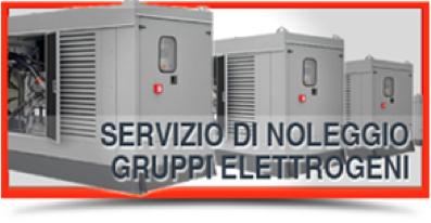 Servizio di noleggio gruppi elettrogeni e cogeneratori